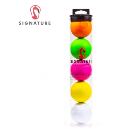 Signature Lacrosse Balls Tube of 5 Balls-Rainbow
